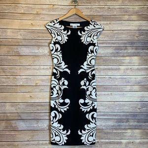 MAGGY LONDON Damask Sheath Dress